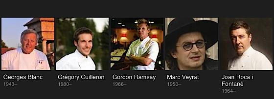 chefs de cuisine populaires sur le web