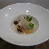 Gnocchis au potimarron, bouillon de champignons, girolles et Parmesan