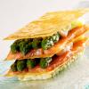 Recette de la semaine : mille-feuille d'asperges vertes, fine escalope de saumon…