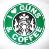 Avant d'entrer au Starbucks laisse ton flingue à la maison !