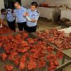 Chine : 22 tonnes de viande de porc transformées en viande de boeuf