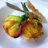 Recette de la semaine : Courgettes en fleur soufflées aux langoustines