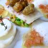 La recette de la semaine :  Filet de daurade au four, écrasé de pois chiches, effeuillé de cabillaud et beignets de moules